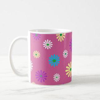 Mug Motif de fleur coloré de popart
