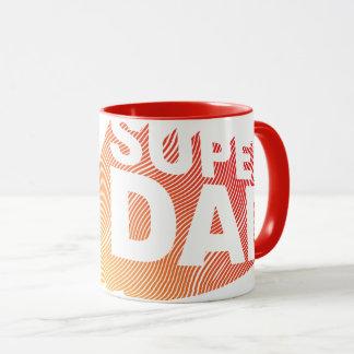 Mug Motif de gradient de SuperDad 3D