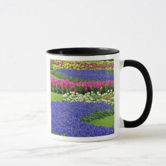 Mug Motif de jacinthe de raisin, de tulipes, et de 3