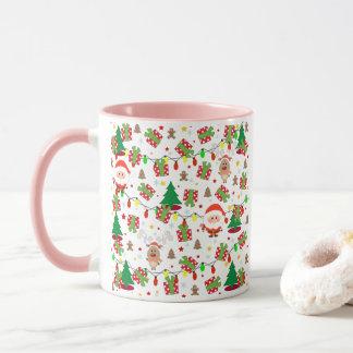 Mug Motif de Père Noël et de Rudolph