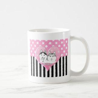 Mug Motif de rose de chiens de traîneau