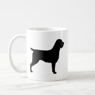 Mug Motif de silhouettes de griffon de pointage à