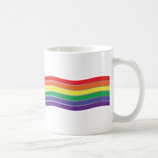 Mug Motif de vagues gai de Chevron d'arc-en-ciel