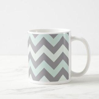 Mug motif de zigzag bleu de mousse de mer