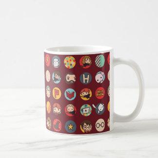 Mug Motif d'icônes de bande dessinée de Harry Potter