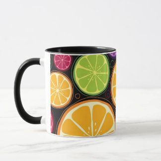 Mug Motif et arrière - plan oranges
