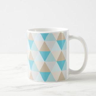 Mug Motif géométrique à la mode de triangle d'aqua