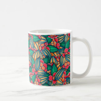 Mug Motif illustré abstrait coloré de graines de cacao