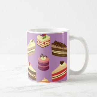 Mug Motif illustré par gâteaux mignons de thé et