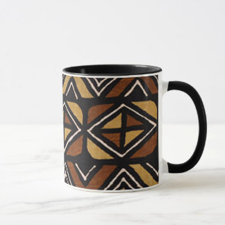 Mug Motif kenyan #2 de tissu de boue