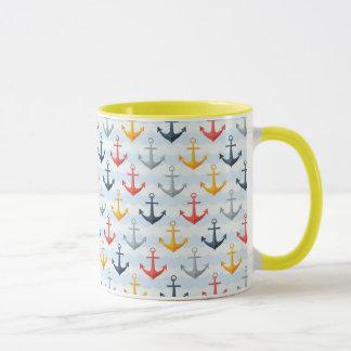 Mug Motif nautique avec des ancres