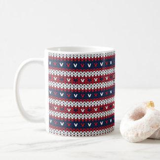 Mug Motif patriotique de chandail de Noël