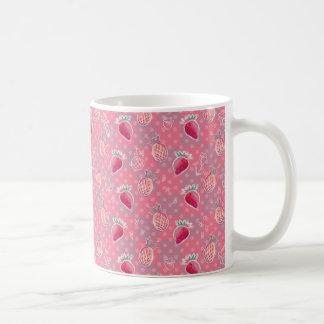 Mug Motif rose de fraise d'ananas