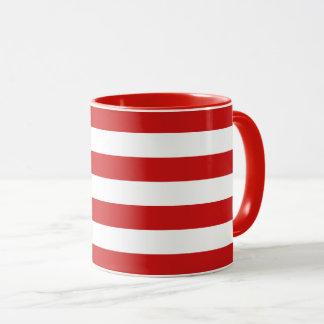 Mug Motif rouge et blanc de rayure