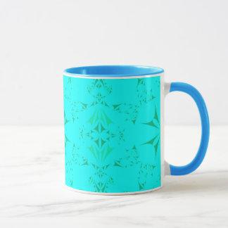 Mug Motif tribal de Bohème de jolie turquoise d'Aqua