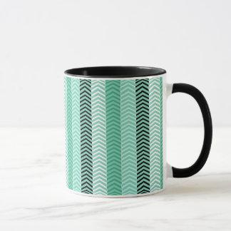 Mug Motif vert en bon état à la mode de rayures de