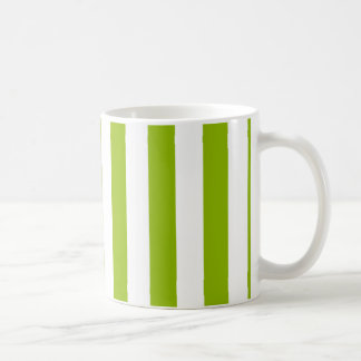 Mug Motif vert pomme de rayures du blanc XL