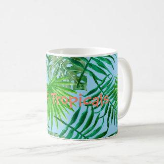 Mug Motif vert tropical de feuille