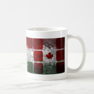 Mug Motifs canadiens hongrois avec des cubes