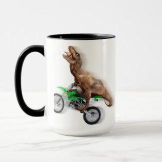 Mug Moto de rex de T - tour de rex de t - rex volant