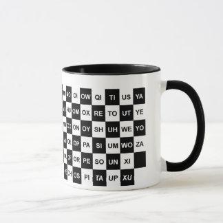 Mug Mots à deux lettres noirs et blancs