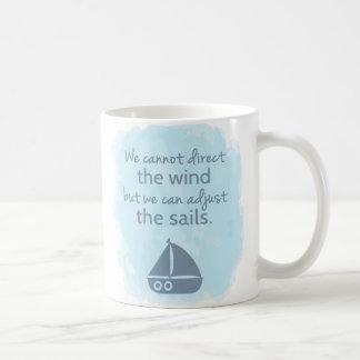 Mug Mots de citation nautique de bateau à voile de