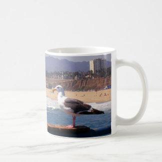 Mug Mouette par la plage de Santa Monica