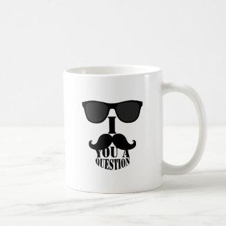 Mug Moustache drôle d'I vous une question avec des