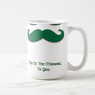 Mug Moustache verte