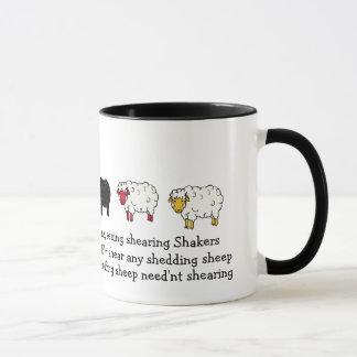 Mug Moutons, bande dessinée de cisaillement de poème
