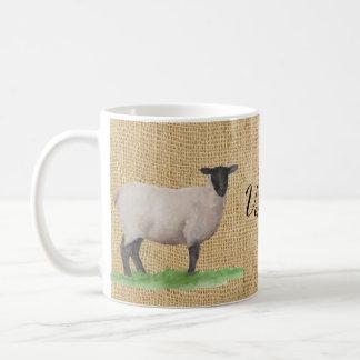 Mug Moutons du Suffolk d'aquarelle