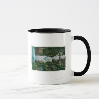 Mug Multnomah tombe sur le fleuve Columbia