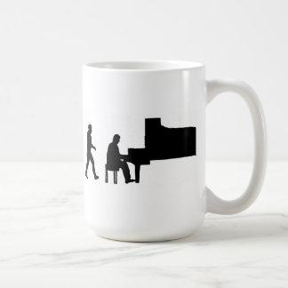 Mug musicien de musique de pianiste de piano d'homme