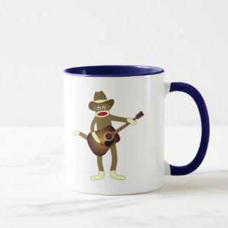 Mug Musique country de singe de chaussette