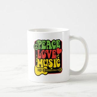 Mug Musique d'amour de paix de Rasta
