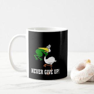 Mug N'abandonnez jamais le pélican et la grenouille