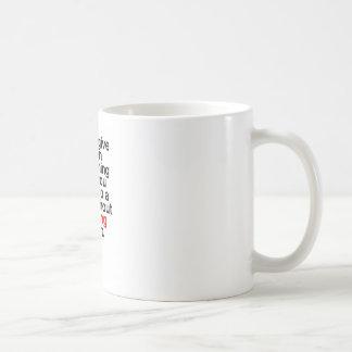 Mug N'abandonnez jamais sur quelque chose que vous ne