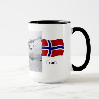 "Mug Nansen avec ""Fram"" dans la glace"