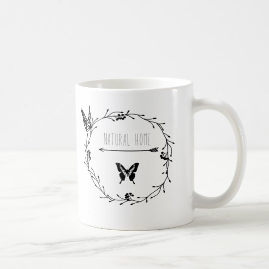 """Mug """"natural home"""""""