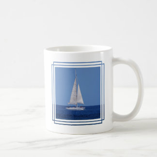 Mug Navigation sur le bleu d'océan