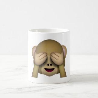 Mug Ne voir l'aucun singe mauvais - Emoji