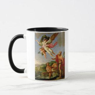 Mug Neptune poursuivant Coronis, 1665-70 (huile sur la