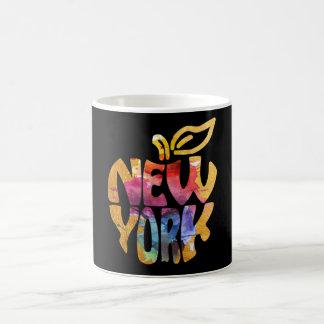 Mug New York grand Apple NYC. Art de calligraphie