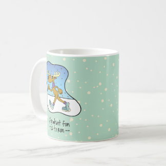 Mug Noël courant de renne d'exercice