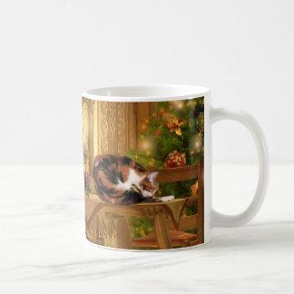 Mug Noël de minous de calicot