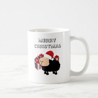 Mug Noël mignon drôle de moutons de bande dessinée de