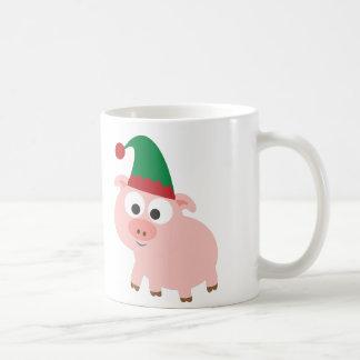 Mug Noël mignon Elf de porc