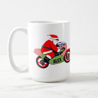 Mug Noël personnalisé de motocycliste