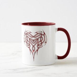 Mug Noeud celtique rouge de coeur