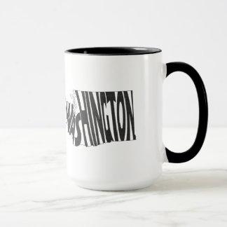 Mug Noir d'art de mot de nom de l'état de Washington